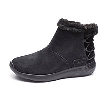 Skechers On the GO City 2 Hibernate Suede Faux Fur Short Boot - 167589
