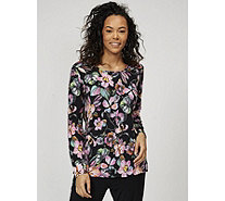 Flower Art Print Tunic by Michele Hope - 169589