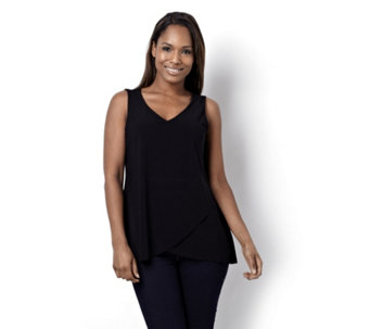 Attitudes by Renee Crepe Jersey Envelope Tunic - 108490