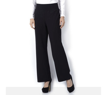 Kim & Co Milano Knit Wide Leg Trouser Petite Length - 127690