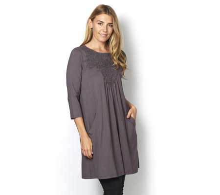 Together Crochet Detail Tunic Dress