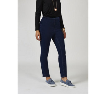 MarlaWynne Slim Fit Denim Trousers with Ankle Vent Regular - 166190