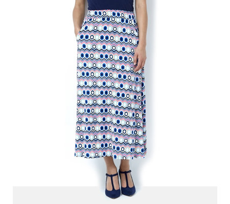 Oliva Honeycomb Print Midi Skirt by Onjenu London