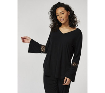 Jersey Tunic with Lace Cuff Detail by Michele Hope - 169590