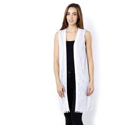 Fashion by Together Pompom Detail Waistcoat