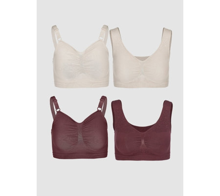 Vercella Vita Medium Control 2 Woven Lace & 2 Plain Bras Pack of 4