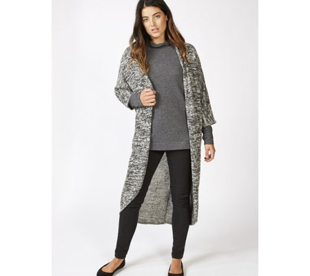 Midi Coccoon Cardigan with 3/4 Dolman Sleeves by Nina Leonard