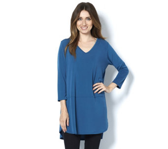 Fashion by Together 3/4 Sleeve Solid Jersey Tunic - 160293