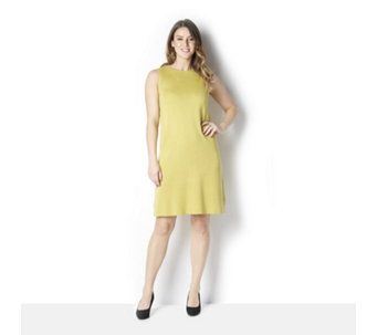 MarlaWynne Sleeveless Knit Round Neck Dress - 163893
