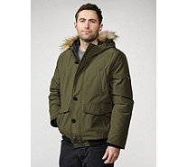Centigrade Men's Jacket with Faux Fur Trim Hood - 168493