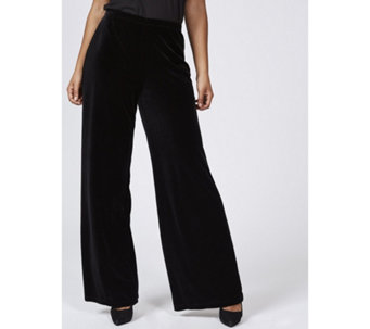 Ronni Nicole Stretch Velvet Palazzo Trousers - 168693