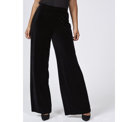 Ronni Nicole Stretch Velvet Palazzo Trousers