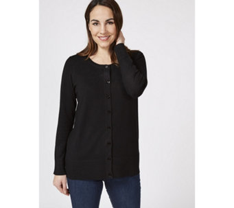 Knitted Cardigan with Zip Hem Detail by Michele Hope - 169593