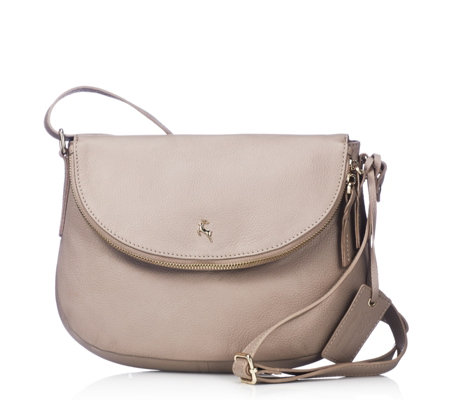 Ashwood Medium Leather Flapover Crossbody Bag