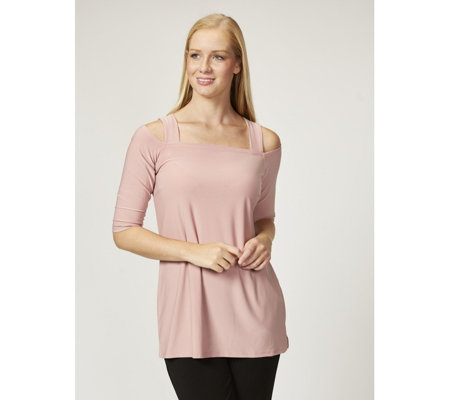 Grace Square Neck Cold Shoulder Tunic