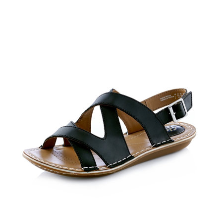 """As Is"" Clarks Tustin Spears Strappy Sandal Wide Fit"