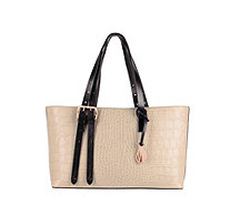 Amanda Wakeley East West Dean Leather Croc Effect Tote Bag - 169096
