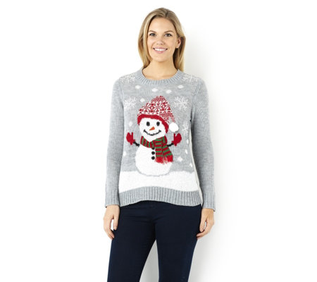 Absolutely Famous Snowman with Pom Pom Hat Christmas Jumper