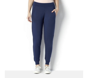 Cuddl Duds French Terry Slim Leg Jogger with Ruched Hem Detail - 162997