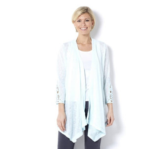 Fashion by Together Crochet Sleeve Cardigan - 163197