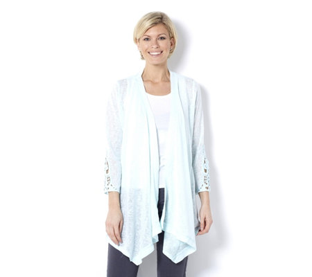 Together Crochet Sleeve Cardigan