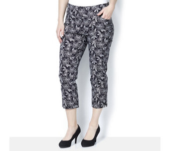 Mr Max Modern Stretch Mesh Panel Insert Printed Crop Trouser - 164997