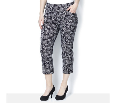 Mr Max Modern Stretch Mesh Panel Insert Printed Crop Trouser