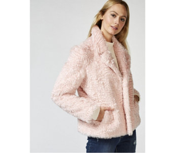 Isaac Mizrahi Live Curly Faux Fur Jacket - 167497