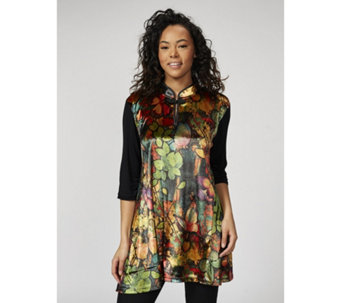 Butler & Wilson Chinese Neck Butterfly Print Top - 172497