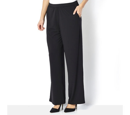 H by Halston Jet Set Jersey Wide Leg Trousers