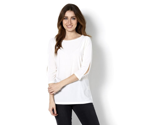 Mr Max Dolman Cold Shoulder Split Sleeve Top