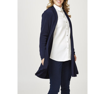 Edge to Edge Cardigan with Side Vents by Michele Hope
