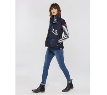 Joules Larkhill Printed Collared Padded Gilet - 168999