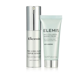 Elemis Pro-Collagen Super Serum 15ml & Marine Cream 15ml - 207501