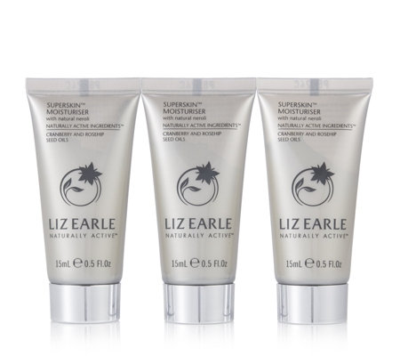 Liz Earle Superskin Moisturiser with Natural Neroli 15ml Trio