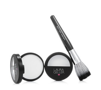 Laura Geller Matte Maker Invisible Oil Blotting Powder Duo 10.5g & Brush - 216503