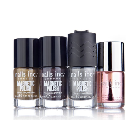 Nails Inc Magnetic Polish Trio with Topcoat
