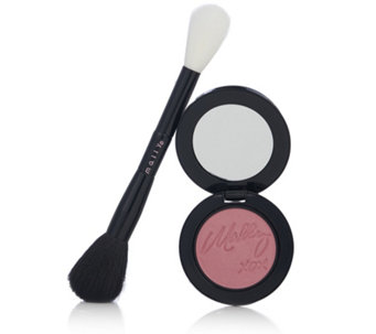 Mally Effortlessly Airbrushed Blush Double Ended Blush Brush - 233705