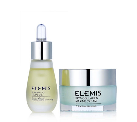 Elemis Superfood Facial Oil & Marine Cream Beautiful Skin Duo