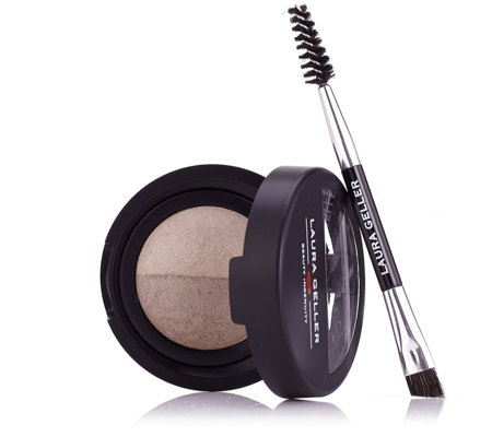 """As Is"" Laura Geller Baked Brow Tones with Double-Ended Brow Brush"