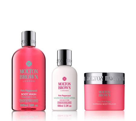 Molton Brown Pink Pepperpod Pampering 3 Piece Body Collection