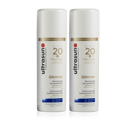 Ultrasun Sun Protection Glimmer SPF20 150ml Duo