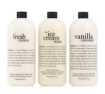 Philosophy 3 Piece Vanilla Lovers Shower Collection 946ml - 234913