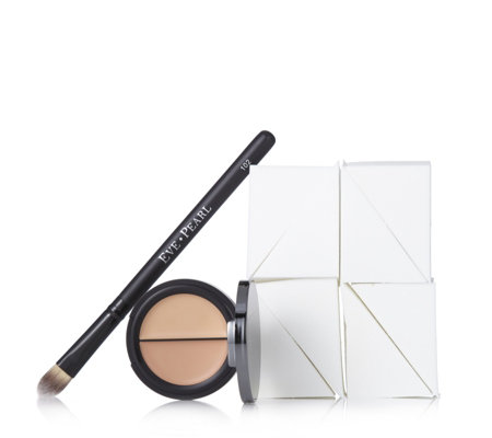 Eve Pearl Dual Salmon Concealer & Brush with 8 Sponges