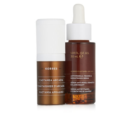 Korres 2 Piece Castanea Serum & Eye Cream Collection
