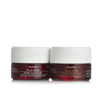 Korres 2 Piece Wild Rose Day Cream & Sleeping Facial Night Cream - 233916