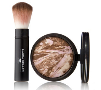 Laura Geller Bronze-n-Brighten Baked Bronzer 9g & Brush - 226517