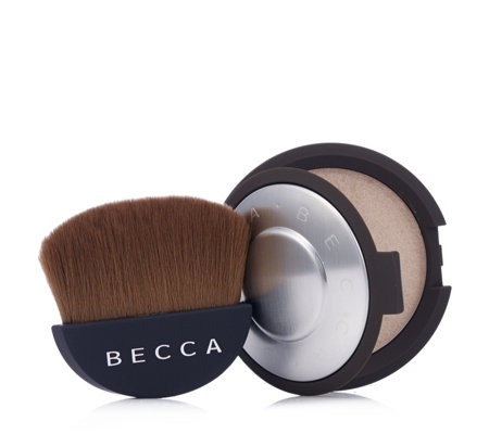 Becca Shimmering Skin Perfector Pressed & Half Moon Brush