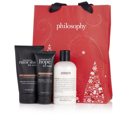 Philosophy 3 Piece Men's Shower & Grooming Collection