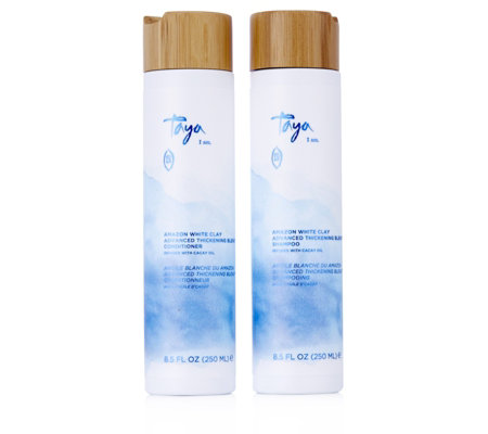 Taya Amazon White Clay Advance Blend Thickening Shampoo & Conditioner
